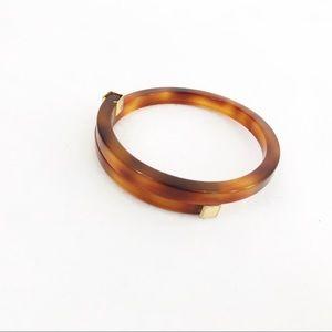 Vintage • 70s Amber Lucite Tortoise Shell Bracelet